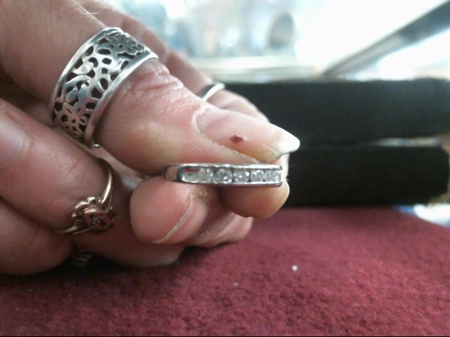 Lady's Diamond Wedding Band 14 Diamonds .84 Carat T.W. 14K White Gold 2.1dwt