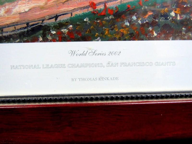 THOMAS KINKADE '02 SAN FRANSISCO GIANTS WORLD SERIES