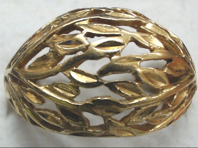 Lady's Gold Ring 10K Yellow Gold 3.6g Size:8.5