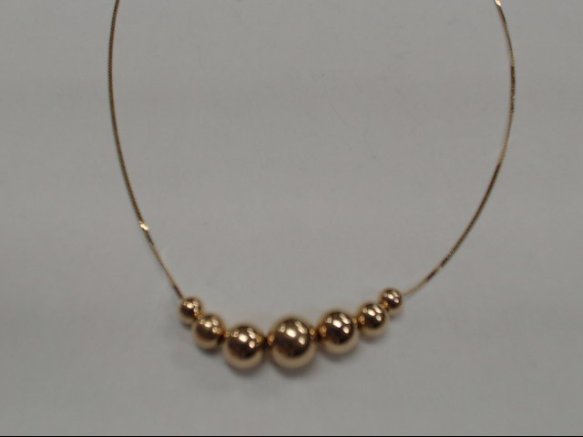 "18"" Gold Fashion Chain 14K Yellow Gold 1.43g"