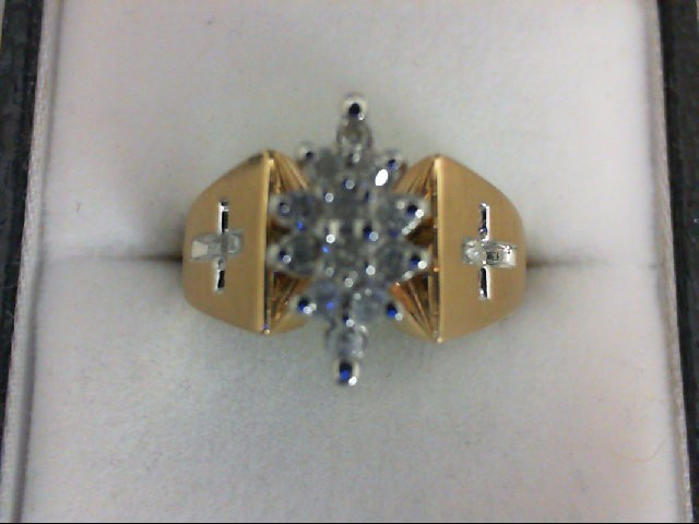 Lady's Diamond Cluster Ring 14 Diamonds .26 Carat T.W. 14K Yellow Gold 4.8g