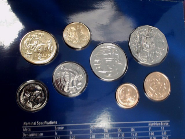 2006 4OTH ANNIVERSARY AUSTRALIAN COIN SET (8) UNCIRCULATED