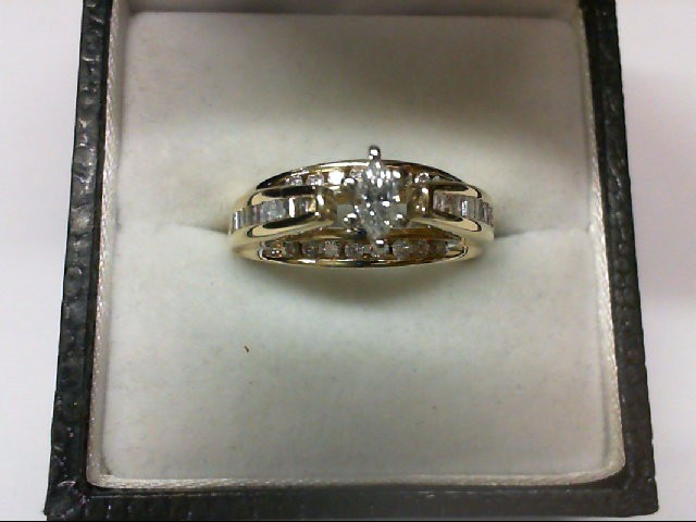 Lady's Diamond Wedding Set 43 Diamonds 0.57 Carat T.W. 14K Yellow Gold 6.5g