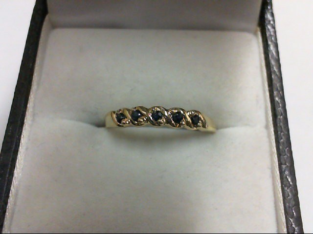 Sapphire Lady's Stone Ring 10K Yellow Gold 1g