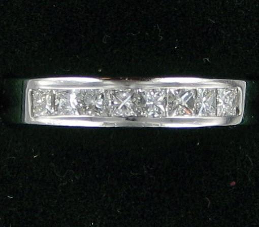 Lady's Platinum-Diamond Wedding Band 8 Diamonds .48 Carat T.W. 950 Platinum