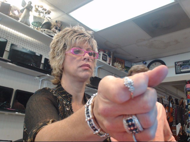Lady's Diamond Engagement Ring 17 Diamonds .31 Carat T.W. 14K White Gold