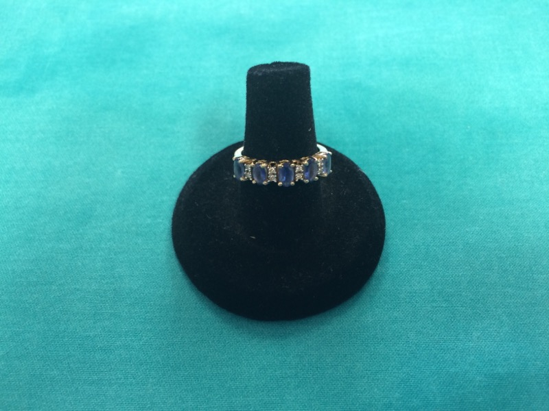 Blue Stone Lady's Stone Ring 14K Yellow Gold 2.1dwt