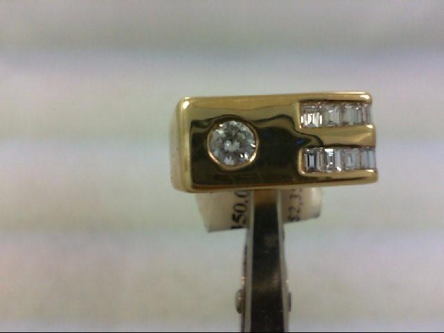 Gent's Diamond Fashion Ring 13 Diamonds 1.0 Carat T.W. 14K Yellow Gold 6.44g
