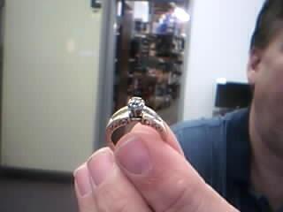 Lady's Diamond Engagement Ring 19 Diamonds .43 Carat T.W. 14K Yellow Gold 4.5g