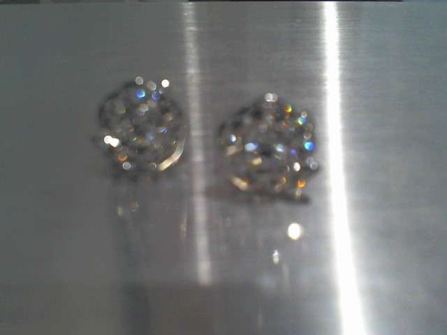 Gold Earrings 18K White Gold 3.4g