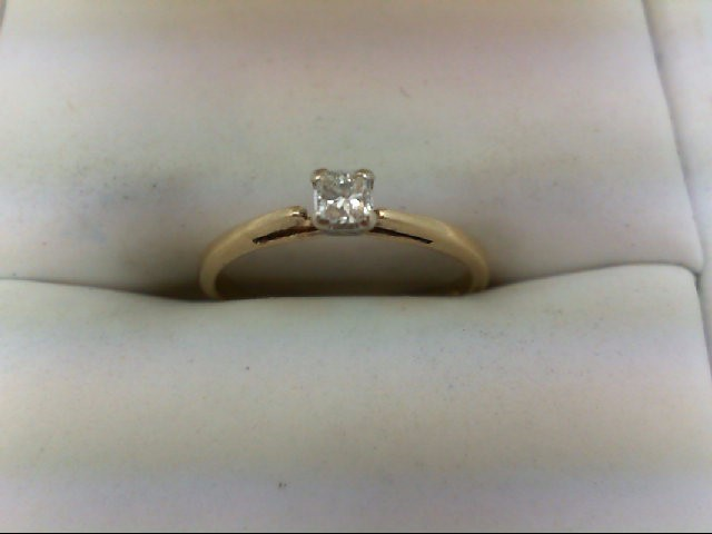 Lady's Diamond Engagement Ring 0.1 CT. 10K Yellow Gold 1.4g