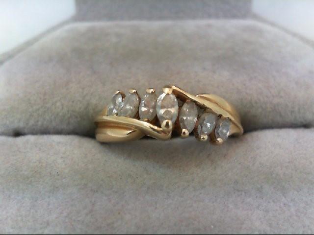 Lady's Diamond Wedding Band 7 Diamonds .56 Carat T.W. 14K Yellow Gold 3.1g