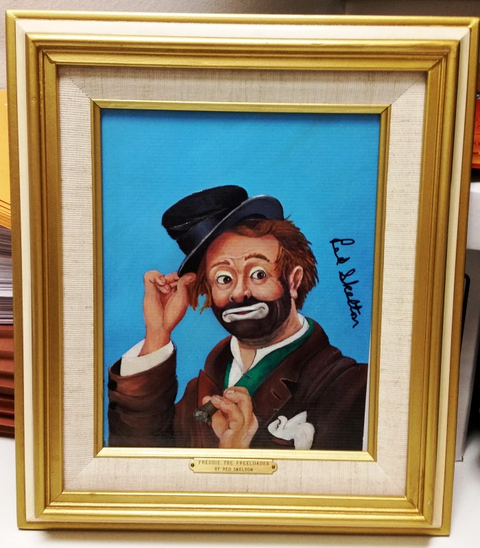 RED SKELTON PAINTING FREDDIE THE FREELOADER