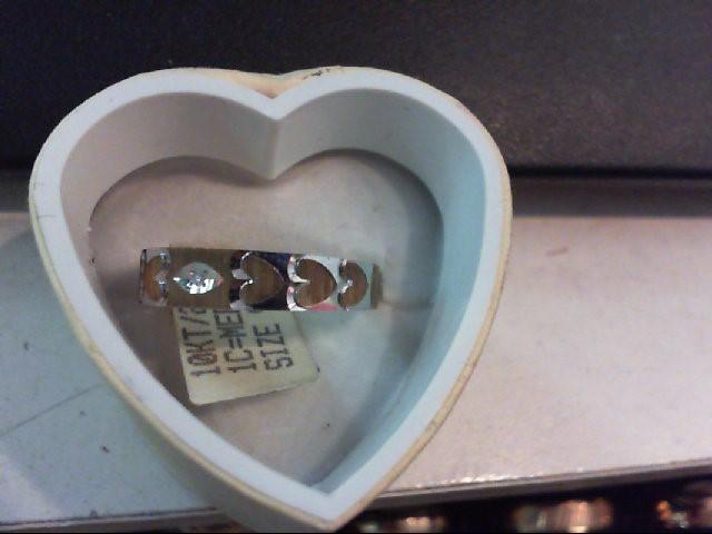Lady's Diamond Wedding Band 0.01 CT. 10K Yellow Gold 2.6g Size:9.75