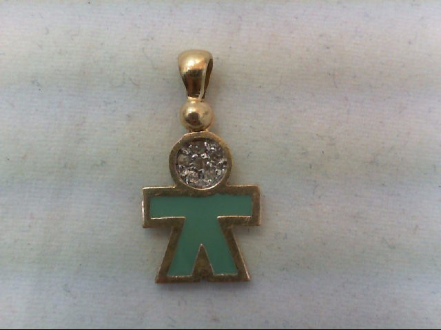 Gold-Multi-Diamond Pendant 6 Diamonds .06 Carat T.W. 10K Yellow Gold 1.4g