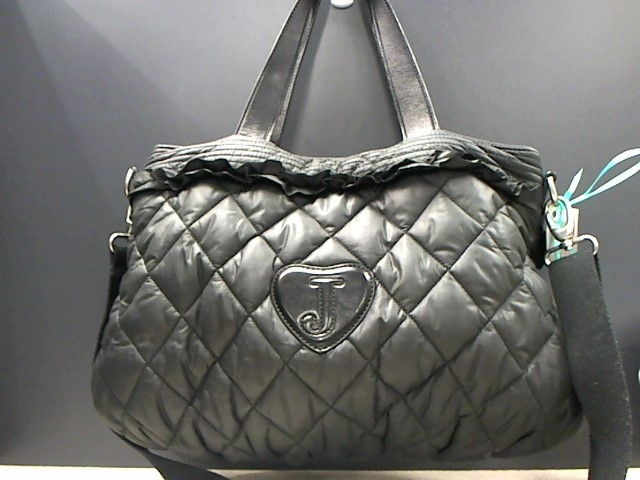JUICY COUTURE BLACK QUILTED NYLON TOTE