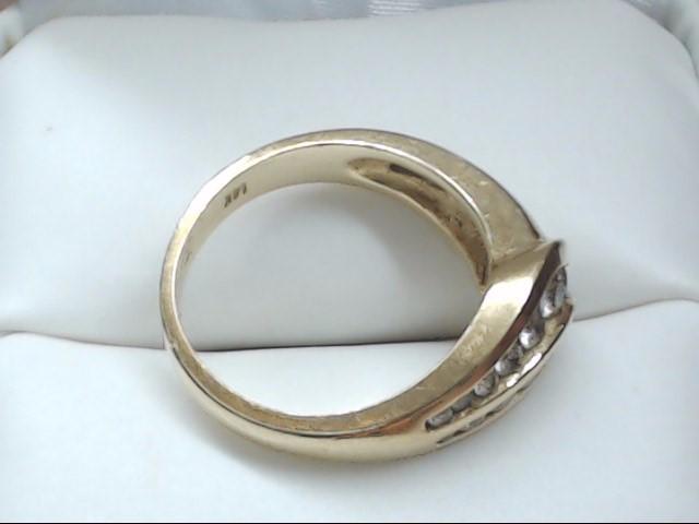 Lady's Diamond Fashion Ring 22 Diamonds 0.66 Carat T.W. 14K Yellow Gold 5.1g Siz