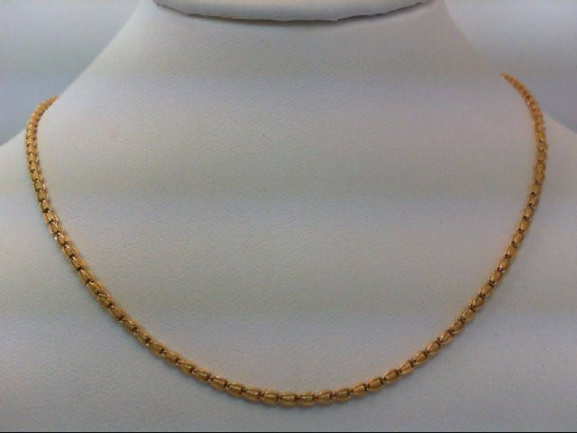 "18"" Gold Fashion Chain 22K Yellow Gold 7.6g"