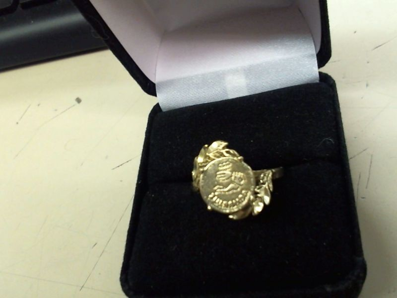 Lady's Gold Ring 10K Yellow Gold 2.2g