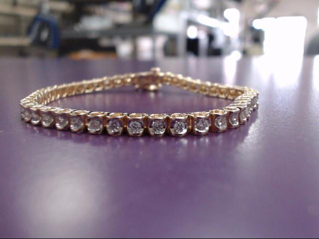 Gold-Diamond Bracelet 48 Diamonds 2.40 Carat T.W. 14K Yellow Gold 13.91g