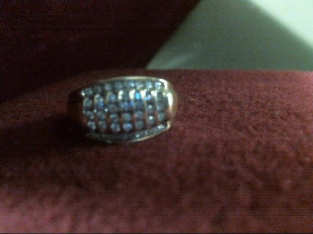 Gent's Diamond Cluster Ring 40 Diamonds .280 Carat T.W. 10K Yellow Gold 3.7dwt