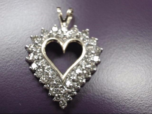 Gold-Multi-Diamond Pendant 46 Diamonds 2.30 Carat T.W. 10K Yellow Gold 4.8g
