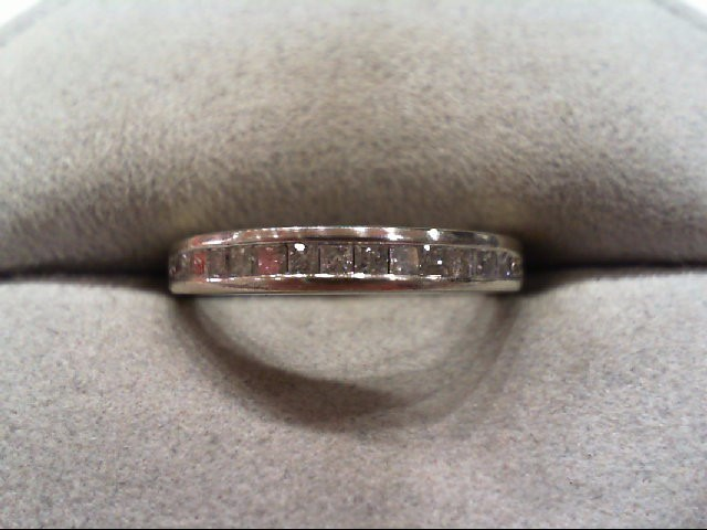 Lady's Diamond Wedding Band 15 Diamonds .30 Carat T.W. 10K White Gold 1.7g