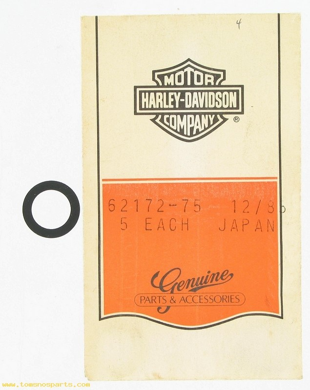 HARLEY DAVIDSON 62172-75, PETCOCK SEAL-SOLD AS 1 EACH