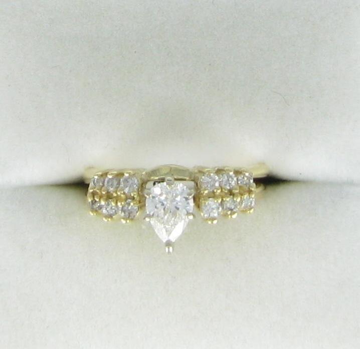 Lady's Diamond Wedding Set 13 Diamonds .59 Carat T.W. 14K Yellow Gold 2.7dwt
