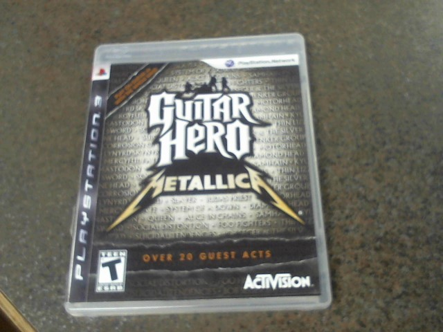 SONY Sony PlayStation 3 Game GUITAR HERO METALLICA