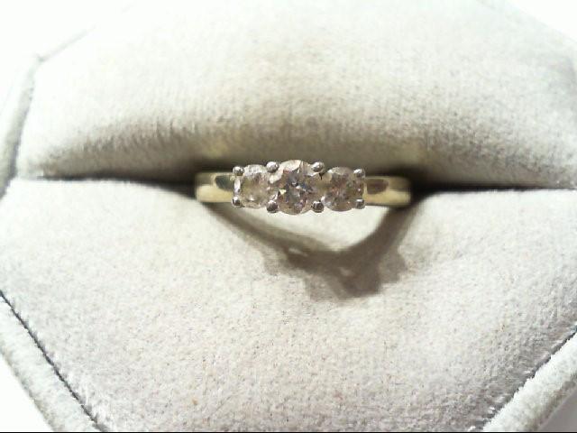 Lady's Diamond Wedding Band 3 Diamonds .50 Carat T.W. 14K White Gold 3.1g