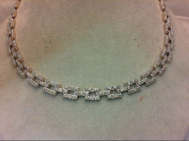 "17"" Diamond Necklace 536 Diamonds 10.72 Carat T.W. 14K Yellow Gold 38g"