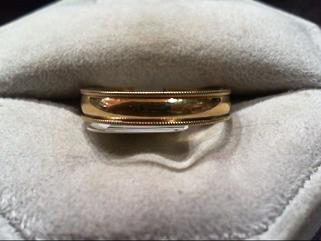Gent's Gold Wedding Band 10K Yellow Gold 2.2g Size:8