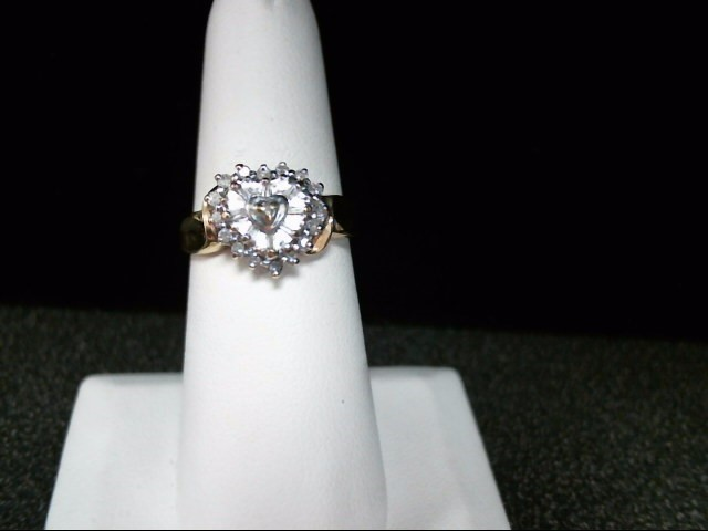 Lady's Diamond Cluster Ring 24 Diamonds .24 Carat T.W. 10K Yellow Gold 3.4g