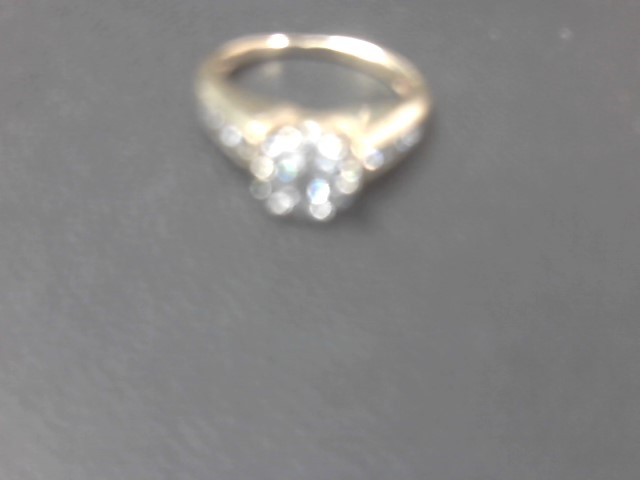 Lady's Diamond Engagement Ring 15 Diamonds .89 Carat T.W. 14K Yellow Gold 3.9g