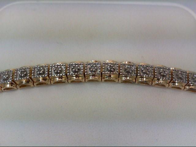 Silver-Diamond Bracelet 40 Diamonds .40 Carat T.W. 925 Silver 17.1g