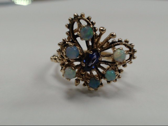 14K BUTTERFLY OPAL RING SIZE 5.5