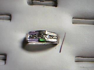 Gent's Gold-Diamond Wedding Band 7 Diamonds .70 Carat T.W. 10K White Gold 6g