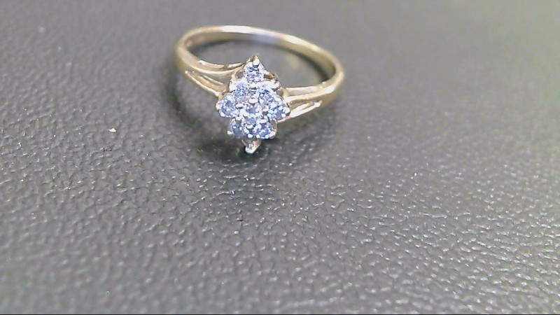 Lady's Diamond Cluster Ring 8 Diamonds .40 Carat T.W. 14K Yellow Gold 2.3g