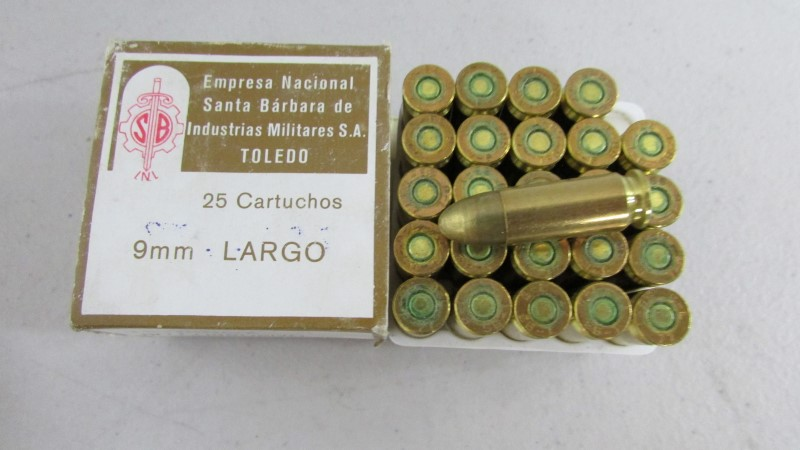 9MM X 23 LARGO, 25 old stock