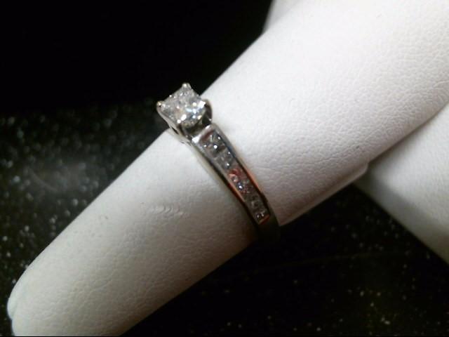 Lady's Diamond Engagement Ring 13 Diamonds .85 Carat T.W. 14K White Gold 2.9g