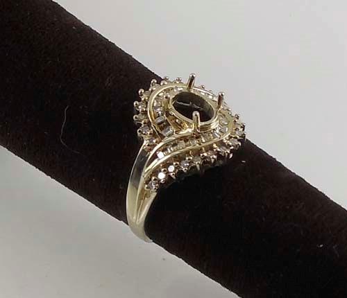 Lady's Diamond Fashion Ring 42 Diamonds 0.42 Carat T.W. 10K White Gold 4.8g Size