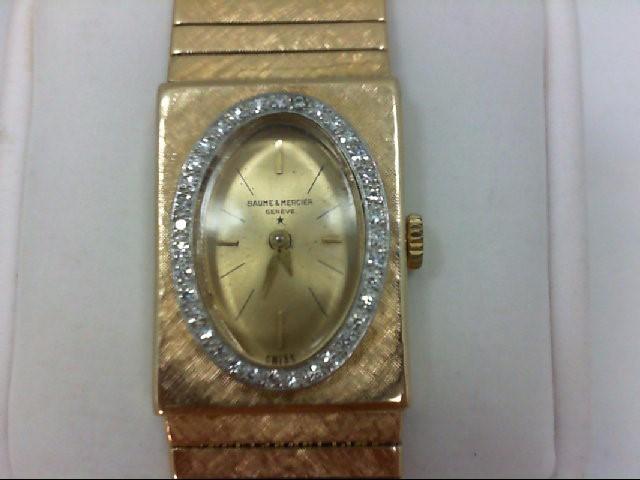 BAUME & MERCIER Gent's Wristwatch KBU 17 JEWEL 14KT 36 Diamonds 0.36 Carat T.W.