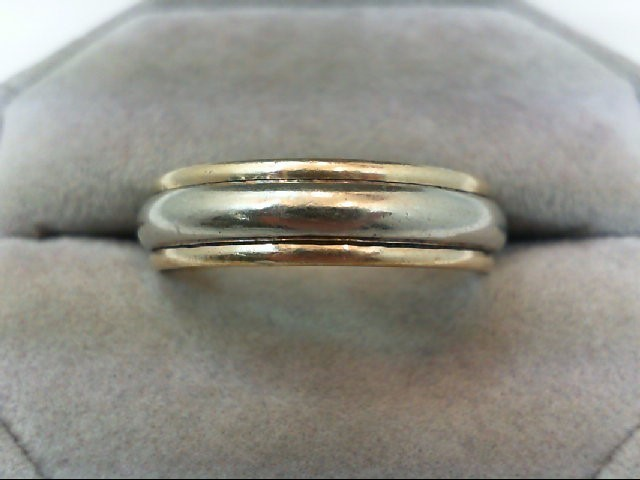 Gent's Gold Wedding Band 14K 2 Tone Gold 7.6g Size:11