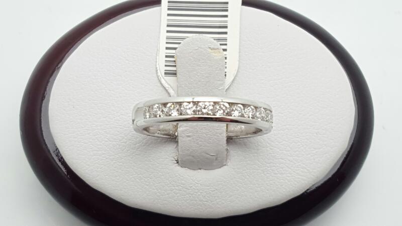 Lady's Gold-Diamond Anniversary Ring 11 Diamonds 0.52 Carat T.W. 14K White Gold