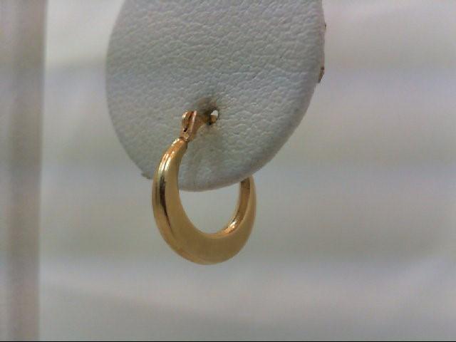 Gold Earrings 14K Yellow Gold 0.3g