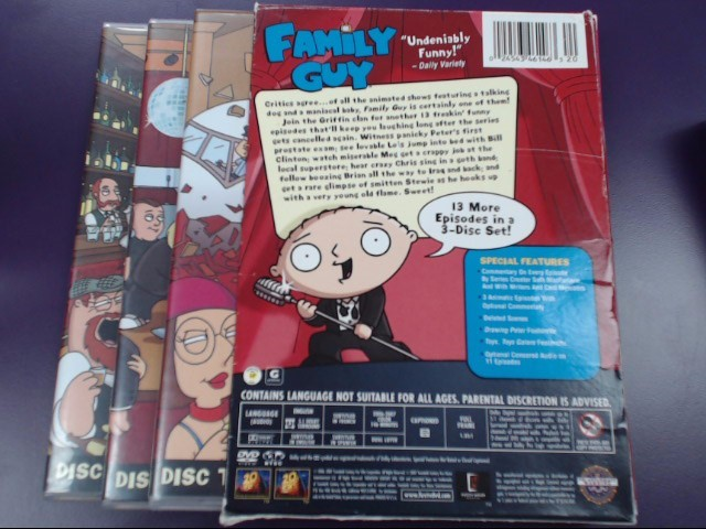 DVD BOX SET FAMILY GUY VOLUME FIVE