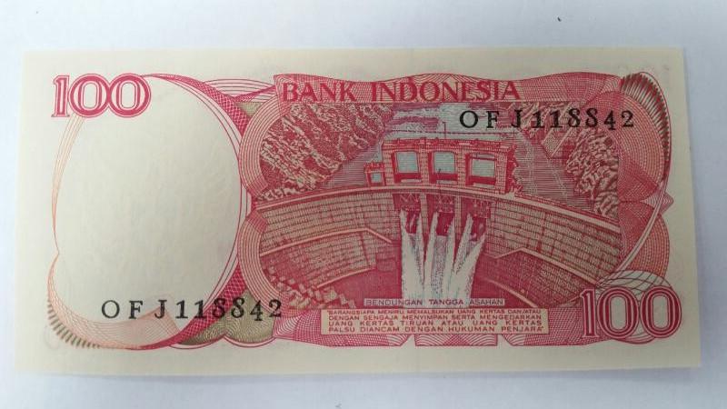 INDONESIA Paper Money - World 1984 100 SERATUS RUPIAH NOTE