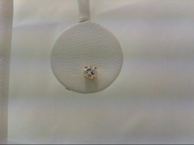 Gold-Diamond Earrings .20 CT. 14K Yellow Gold 0.3g