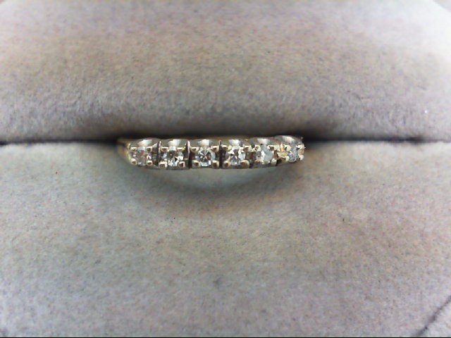 Lady's Diamond Wedding Band 6 Diamonds .12 Carat T.W. 14K Yellow Gold 1.3g